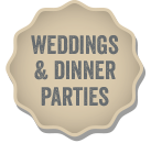 Weddings and Parties menu button