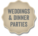 Wedding and Dinner Party button